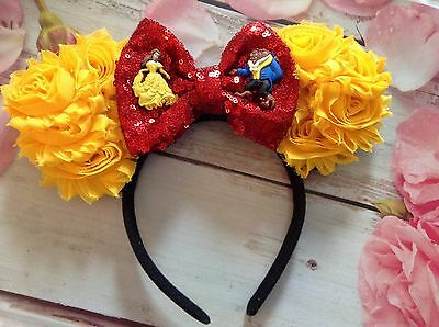 Beauty and the Beast Mouse Ears Headband-Birthday party-handmade-Disney World