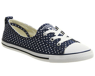 146644b0b8d3a8 WOMENS CONVERSE CTAS Ballet Lace Navy White Trainers Shoes -  26.11 ...