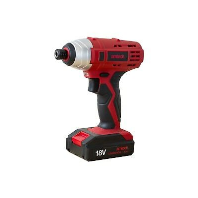 "18v Li-Ion CORDLESS IMPACT DRILL 1/4"" IMPACT DRIVER + CASE + FAST CHARGE Amtech"