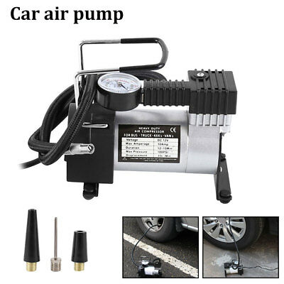 Heavy Duty Portable 12V Electric Car Tyre Inflator 100 Psi Air Compressor Pump