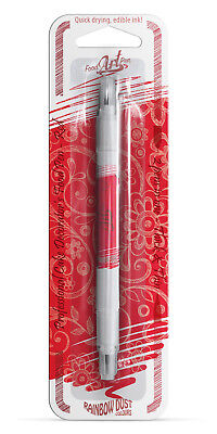 Rainbow Dust Edible Red Food Colour Pen - Cake Art Write & Draw On Icing