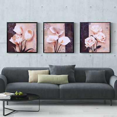 3 Panel Flower Blooming Modern Art Painting Print Painting on Canvas Poster
