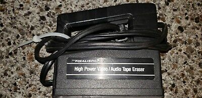 RADIO SHACK HIGH POWER BULK TAPE ERASER Video/Audio Realistic 44-233A