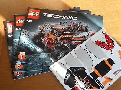 Lego Technic 9398 4x4 Crawler Instructions Stickers Only No