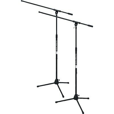 On-Stage Stands Tripod Mic Stand with Boom 2-Pack