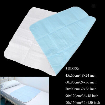 Absorbent Washable Waterproof Incontinence Bed Pad Bedwetting Sheet Underpad