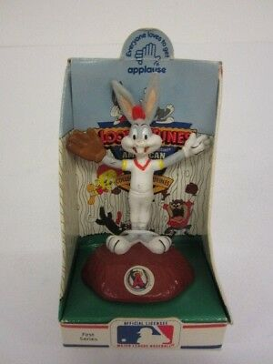 Applause Looney Tunes California Angels Baseball Bugs Bunny Figure dated 1990