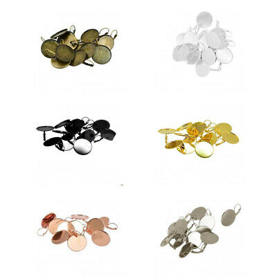 12pcs Round Empty Resin Base Jewelry Findings Craft Lot for DIY Making 25mm