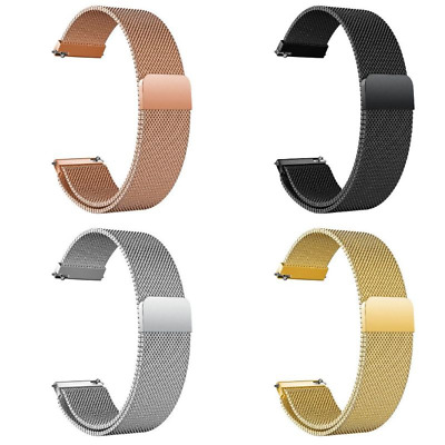 Quick Release Pins Stainless Steel Mesh Milanese Loop Magnetic Watch Strap Bands