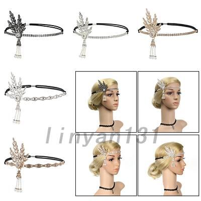Flapper Women Hair Headpiece 1920s Pearl Headband Great Gatsby For Wedding Ball