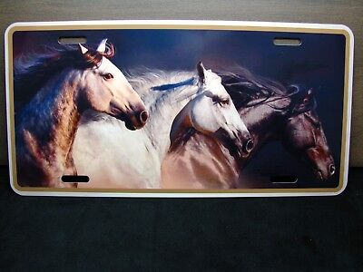 Horse  Metal Novelty License Plate Tag For Cars Custom Horse License Plate