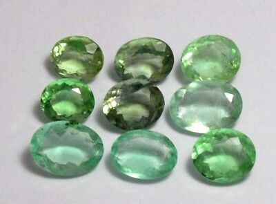120.80 Ct Natural Green Colombian Emerald Fluorite Untreated AAA+ 9 Pcs Gems