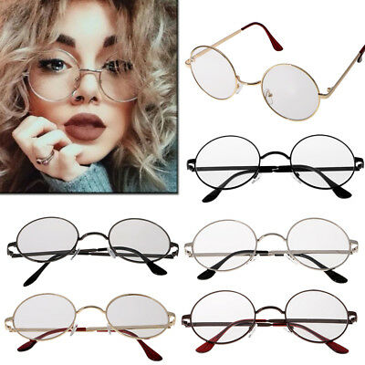 ccda00fb73b Women Men Large Oversized Metal Frame Clear Lens Round Circle Eye Glasses