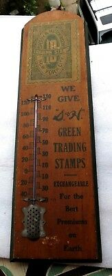 "1950's 40's VTG 24"" ANTIQUE Sperry Hutchinson Trading Stamps Thermometer.Rare!!"