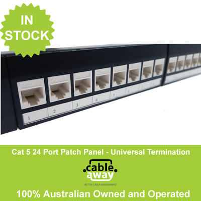1RU CAT-6 24 Port Patch Panel w/ Cable Manager