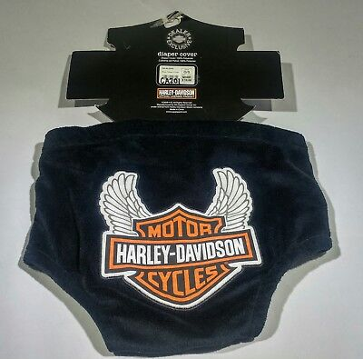 Harley Davidson One Size Applique Logo Diaper Cover New With Tags
