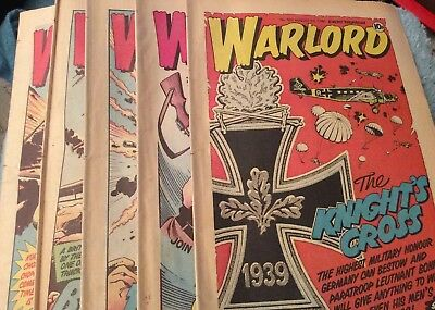 5 Vintage 'Warlord Comics' Issue # 307, 308, 309, 310, 311, (1980)