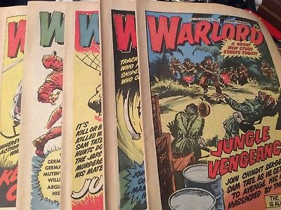 5 Vintage 'Warlord Comics' Issue # 300, 303, 304, 305, 306, (1980)