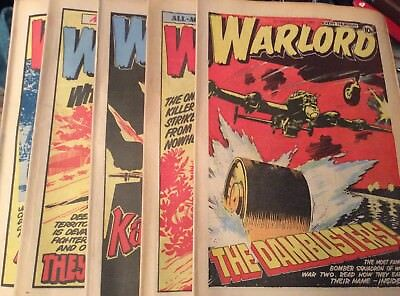 5 Vintage 'Warlord Comics' Issue # 295, 296, 297, 298, 299, (1980)