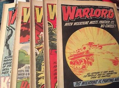 5 Vintage 'Warlord Comics' Issue # 285, 286, 287, 288, 289, (1980)