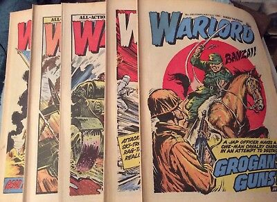 5 Vintage 'Warlord Comics' Issue # 280, 281, 282, 283, 284, (1980)