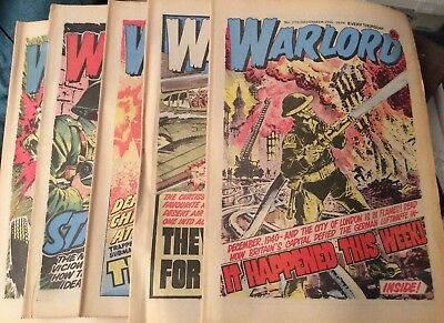 5 Vintage 'Warlord Comics' Issue # 275, 276, 277, 278, 279, (1979-80)