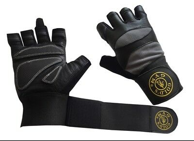 Gym Workout Weight Lifting Body Building Training Fitness Gloves with Strap