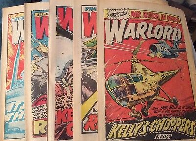 5 Vintage 'Warlord Comics' Issues # 260, 261, 262, 263, 264, (all 1979)