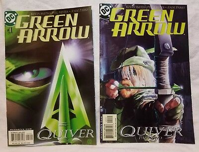 Green Arrow #1 & #2 (2001, DC) Quiver Kevin Smith Comic Books