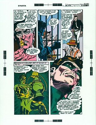 Neal Adams Green Lantern # 77 pages 11, 12 & 14 production art/transparency