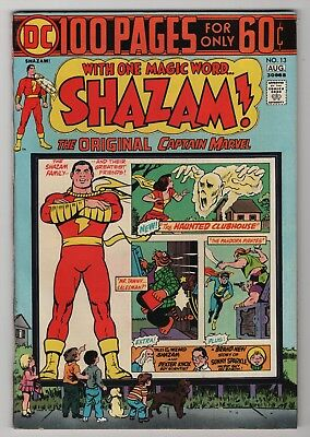 Shazam #13 VF 8.0 high grade 1974 DC Captain Marvel 100-page giant create-a-lot