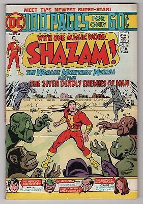 Shazam #16 VF/NM 9.0 high grade 1975 Captain Marvel 100-page giant create-a-lot