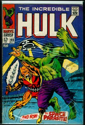 Marvel Comics The Incredible HULK #103 The Space Parasite GD 2.0