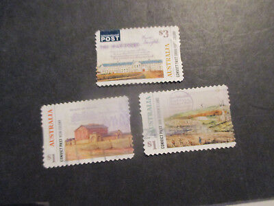 No-1--2018  Norfolk Island  Convict  Past  3   Stamp  Issues   -Used--P/s