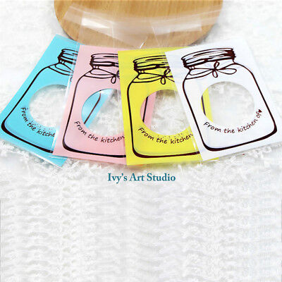 40 x Jar Lollie Bags treat lolly favours cello Candy party self-adhesive bags
