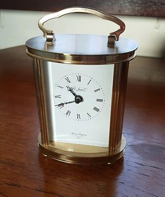 St James made in England brass carriage clock in good working order & condition.