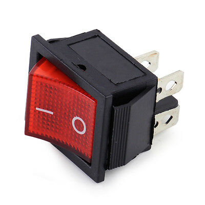 4 Pin On-Off Snap-in AC 110V-220V 2 Position Power Control Boat Rocker Switch