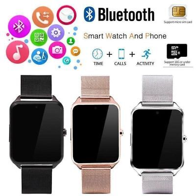 Bluetooth Smart Watch GSM SIM Phone Mate Z60 Stainless Steel For IOS Android BL