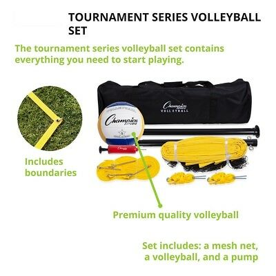 Volleyball Set Complete Accessories Champion Outdoor Portable Yard Tennis Beach
