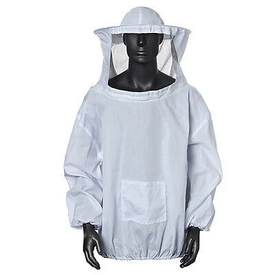 Protective Beekeeping Jacket Veil Smock Equipment Bee Keeping Hat Sleeve Suit AD