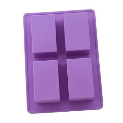 4 Cavity DIY Rectangle Silicone Mold For Chocolate Cake Mould Soap Mould JJ