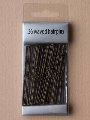 36 Long Large 5cm Kirby Hair Grips Clips Bobby Waved Pins Slides Black Brown