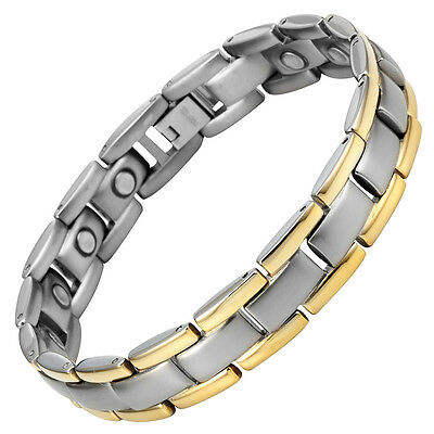 Strong Magnetic Therapy Bracelet 15 x 3000 gauss Magnets By Willis Judd Mens
