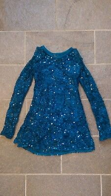 Balera long sleeve lace sequin leotard dress IC intermediate child