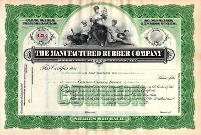 Five (5) different Tire - Rubber - Manufacturers Stock Certificates 1920-1922