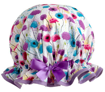 Floral Meadow Luxury Shower Cap