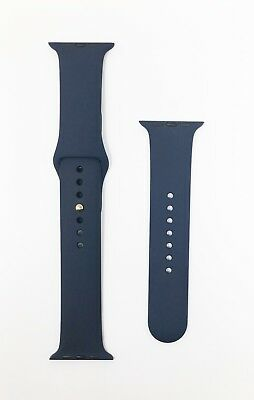 Genuine Apple Watch Sport Band - 42mm (Midnight Blue) Gold Stainless Steel Pin