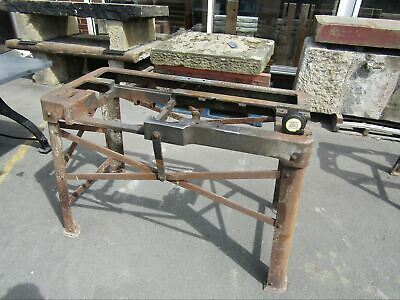 """Reclaimed Cast Iron Machine Base Table Top Wrexham Made 45"""" Long"""