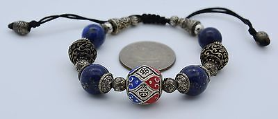 Rare Beautiful Ancient Early Islamic Roman Glass Beads Bracelet Adjustable