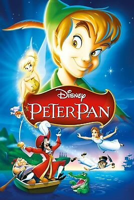 """""""Peter Pan"""" ...Classic Children's Animated Movie Poster 2... Various Sizes"""